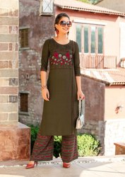 Rangjyot Present Parin Vol 1 Rayon Embroidery Top With Palazzo Collection