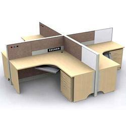 Plywood 2 To 2.5 Feet Office Workstation