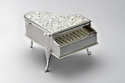 Silver Plated Piano For Gifts-JB1047