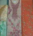 4 Colours Chanderi Ladies Designer Suits