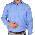 Cotton Blue Full Sleeve Corporate Shirt, Size: S-xl