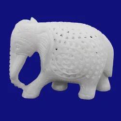 White Marble Undercut Elephant