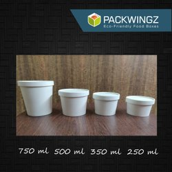 Packwingz White Take Away Food Packaging Containers, Capacity: 250 To 750 Ml