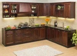 Residential V Shaped Modular Kitchen, Warranty: 1-5 Years