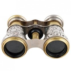 Antique Silver Finish Binoculars