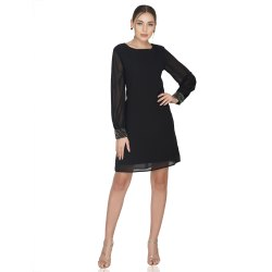 Crystal Cuff Sequin Dress