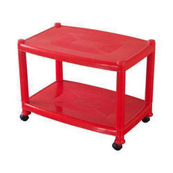 Rectangular Wheels Plastic Table, Size: 660 x 435 x 485 mm