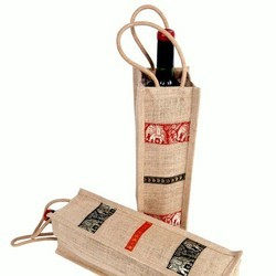 Jute Wine Bottle Bag