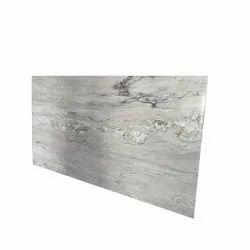 Polished Snow White Granite Slab, Thickness: 18-20 mm