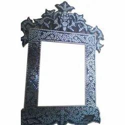 Modern Glass Inlay Mirror Frame, Size/Dimension: 24x36 Inch