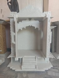 Indoor White RM 3ft Marble Puja Temple, for Home
