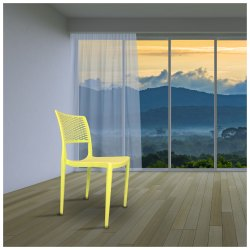 Diya Yellow Best Plastic Chair for Indoor Use, 1 Year