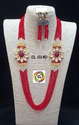 CL Jewellery Crystal Beads Kundan Customised Costume Imitation Necklace