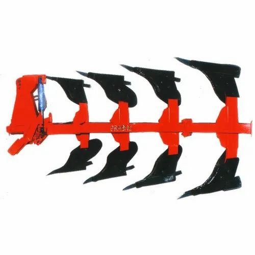 PRABHU 4 Furrow Hydraulic Reversible Plough, For Agriculture