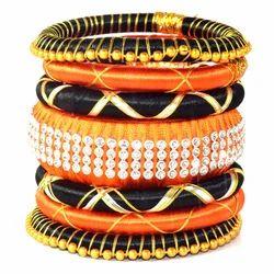 Indian Handcraft Beautiful Women Wear Silk Thread Bangles