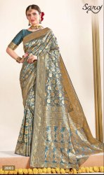 Designer Embroidery Party Wear Saree