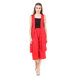 Casual Wear Cotton Designer Western-wear Co-ordinate Set, 15-55