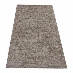 Grey Woolen Shaggy Carpet, Rectangle
