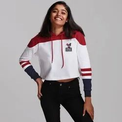 Full Sleeve 100% Cotton Harley Quinn Cropped Hoodies, Size: XL, XXL
