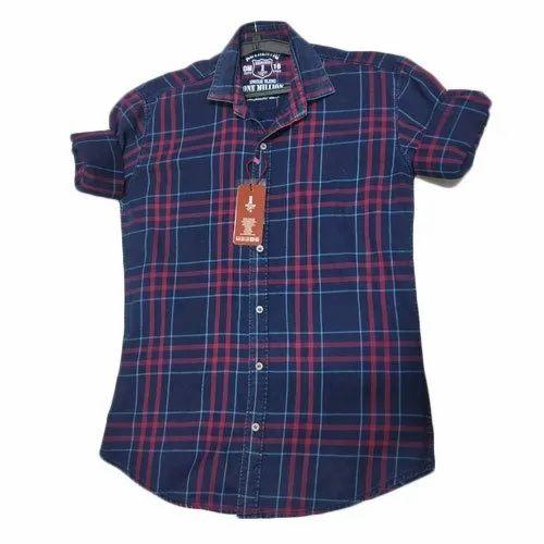 Clothqne Casual Designer Check Shirt, Size: S- 3xl, Hand Wash And Machine Wash