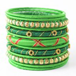 Indian Handcraft Fashion Jewelry Silk Thread Bangles