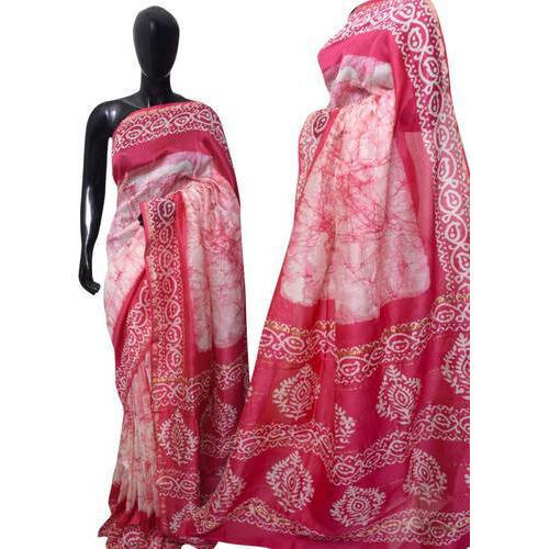 5c0c943f67 Casual Wear Batik Printed Silk Saree, With Blouse Piece, Rs 1550 ...