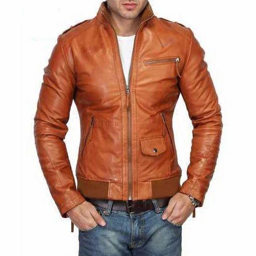 35d9887f5666e Mens Leather Full Sleeve Biker Jacket
