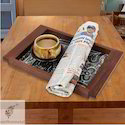 Square Brown Designer Wooden Serving Tray