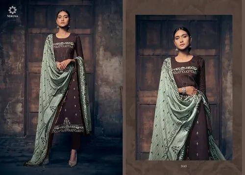 Silk Satin Printed Salwar Suits