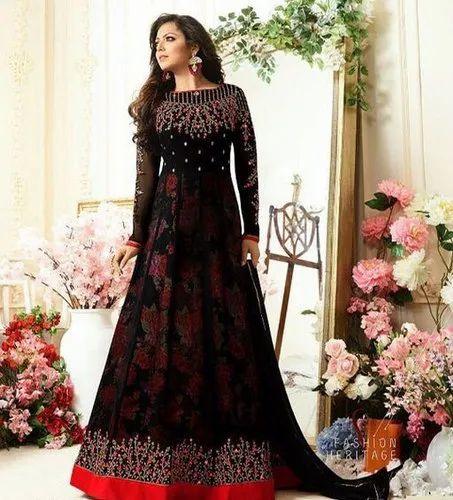 bc1051d88a Kashvi Designer Party Wear Georgette Embroidered Salwar Suits, Rs ...