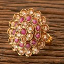 Girls Gold Plated Antique Classic Ring 200616