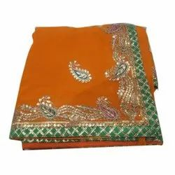 Ladies Embroidery Cotton Saree, With Blouse Piece, 5.4 Meter