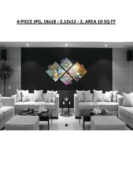 Digital Canvas Prints Stretched As 4-piece Frame