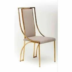 Stainless Steel Gold Finish Metal Chair
