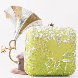 Square Sparkle Box Clutch Bag