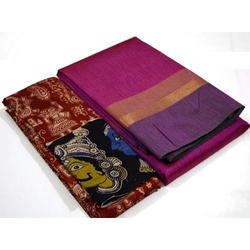 Grand Genie Printed Chanderi Cotton Saree