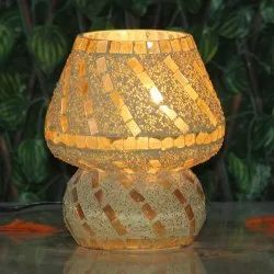 Handmade Glass Mosaic Table Lamp Indian Handcrafted For Corporate And Diwali Gifting
