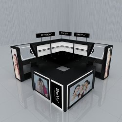 Cosmetic Retail Display Kiosk Panel