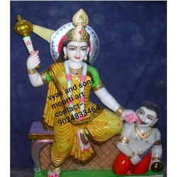 Marble Baglamukhi Mata Statue