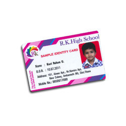 Student ID Card Sticky Card