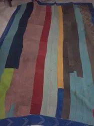 Multicolor Cotton Vintage Kantha Quilt