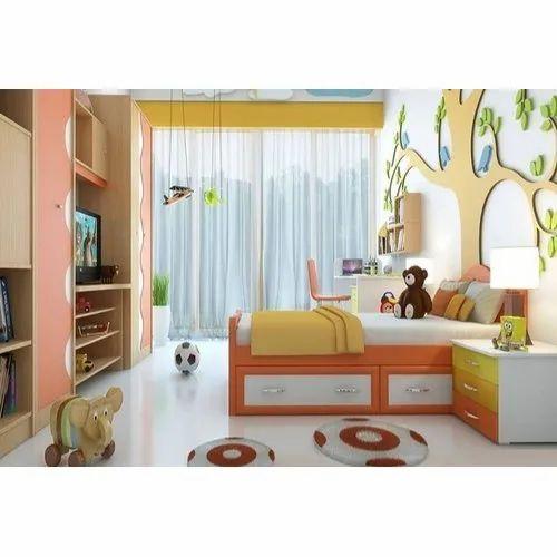 Wooden Modern Designer Kids Bedroom Sets For Home Size Dimension Small Rs 65000 Set Id 21671105691