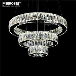 Modern 3 Ring Crystal Lustres Chandelier