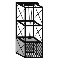 SS Goods Cage Lift