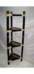 Black Open Storage Bamboo corner rack, For Home