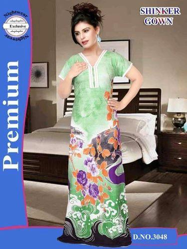 3792548e556 Full Length Ladies Fancy Night Gown