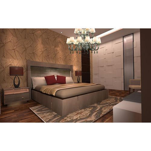 Light Brown PVC 48D Bedroom Wallpaper Rs 48 Square Feet Ms Best 3D Bedroom Design Property