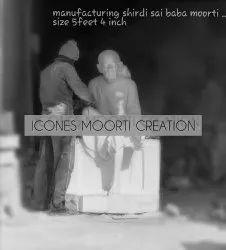 5.6 Feet Marble Sai Baba Statue
