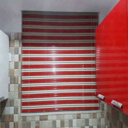Red PVC Horizontal Blinds