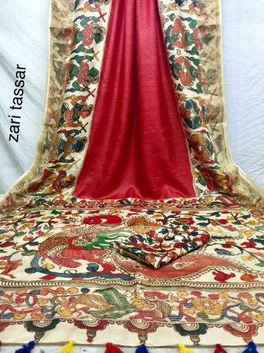 07ee61c6b4 Unitex Fashion Pure Digital Print Tussar Silk Saree, Rs 5050 /unit ...